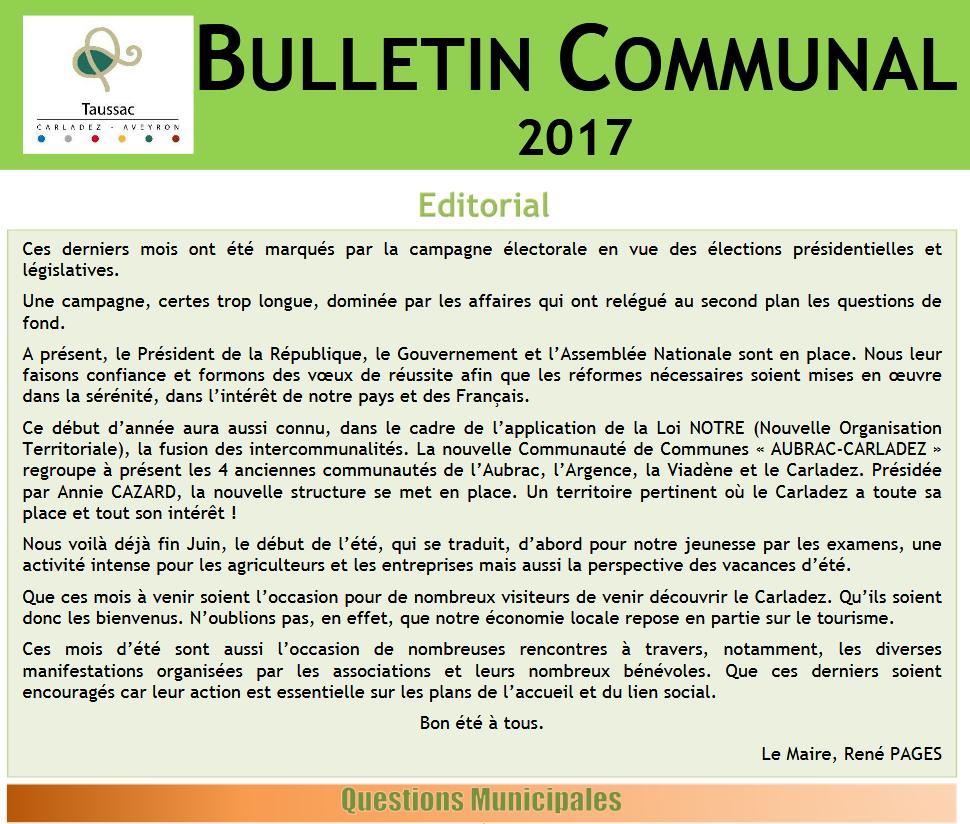 Bulletin communal