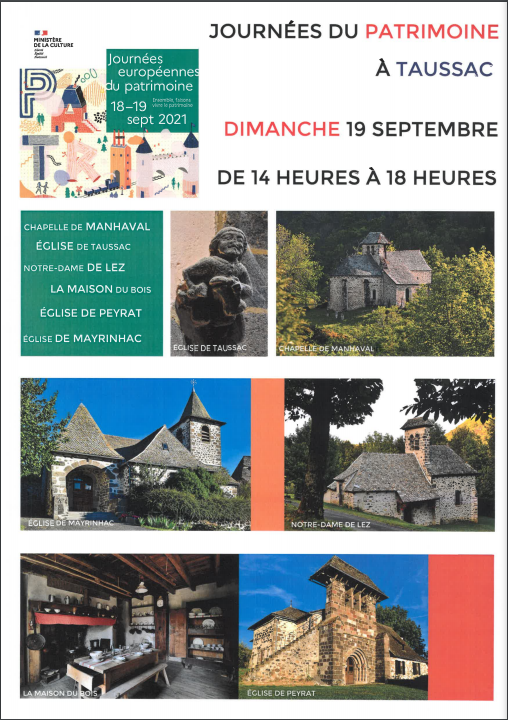 Les Journées du patrimoine 2021.